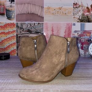 suede Style&Co heeled booties
